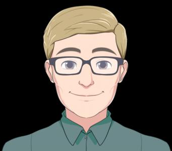 Chatbot Avatar Mann Brille