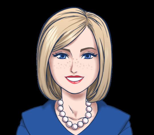 Chatbot Avatar Frau Perlenkette
