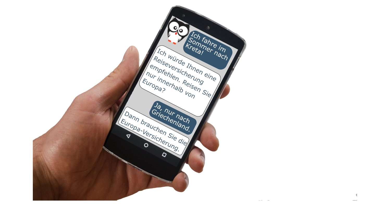 Smartphone Hand Chatbot