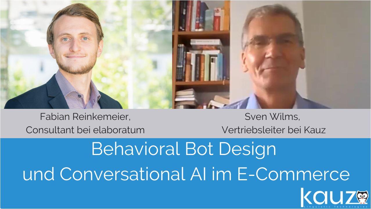 Bot Design Conversational AI Ecommerce