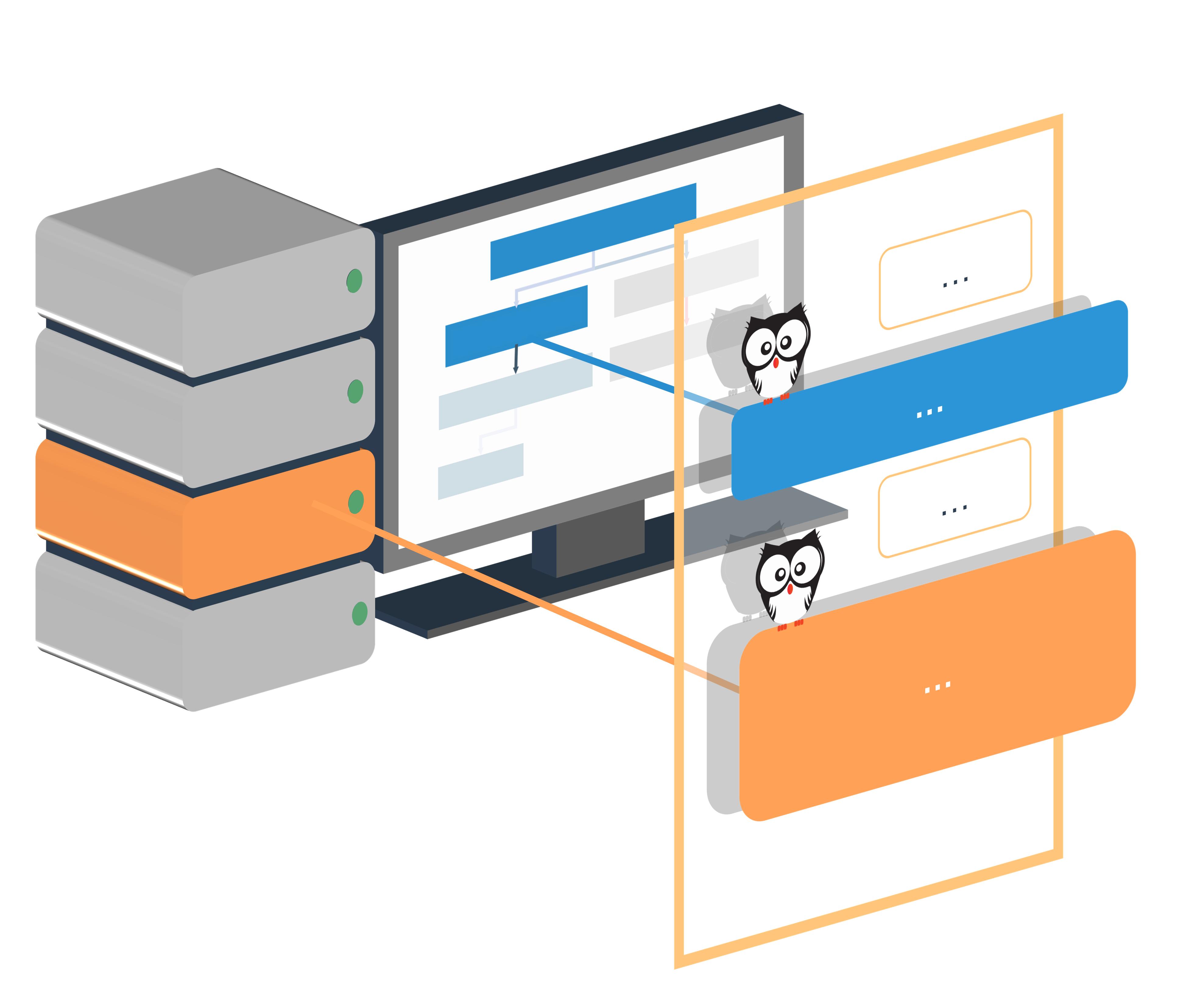 Chat Datenbanken Eule Monitor Computer