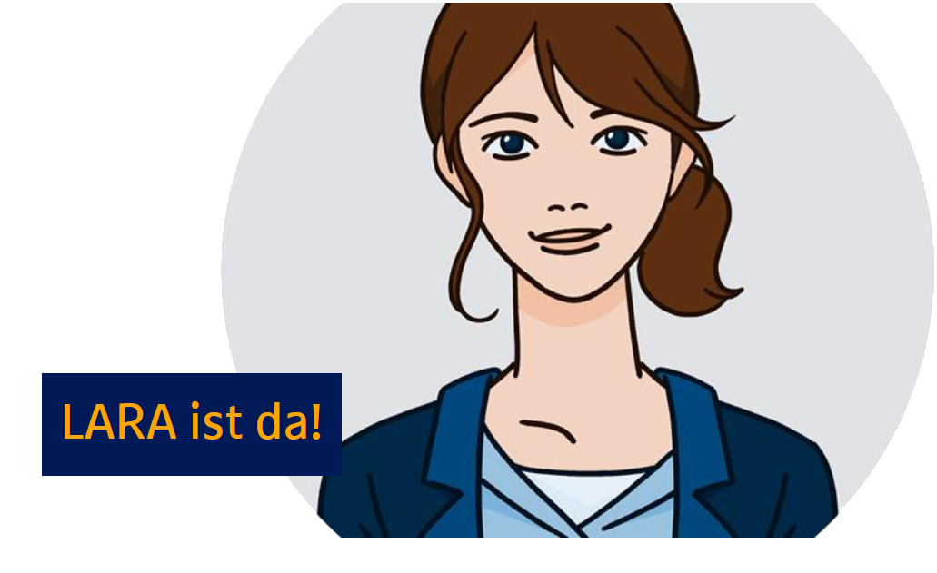 Chatbot Lara mit Text: