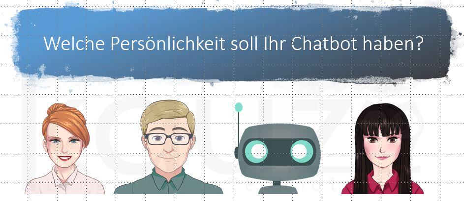 Chatbot vier Avatare 2 Frauen, 1 Mann, 1 Roboter