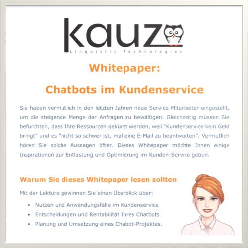 Cover Whitepaper Chatbots im Kundenservice