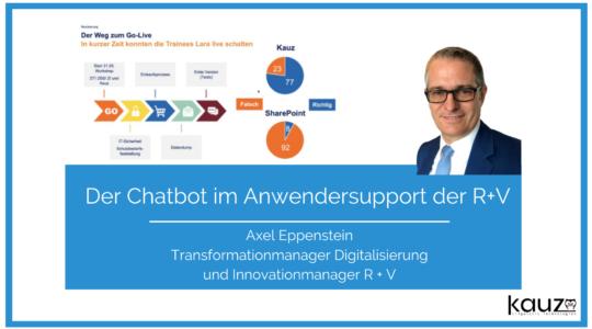 Der Chatbot Im Anwendersupport Der R Und V Versicherung Axel Eppenstein