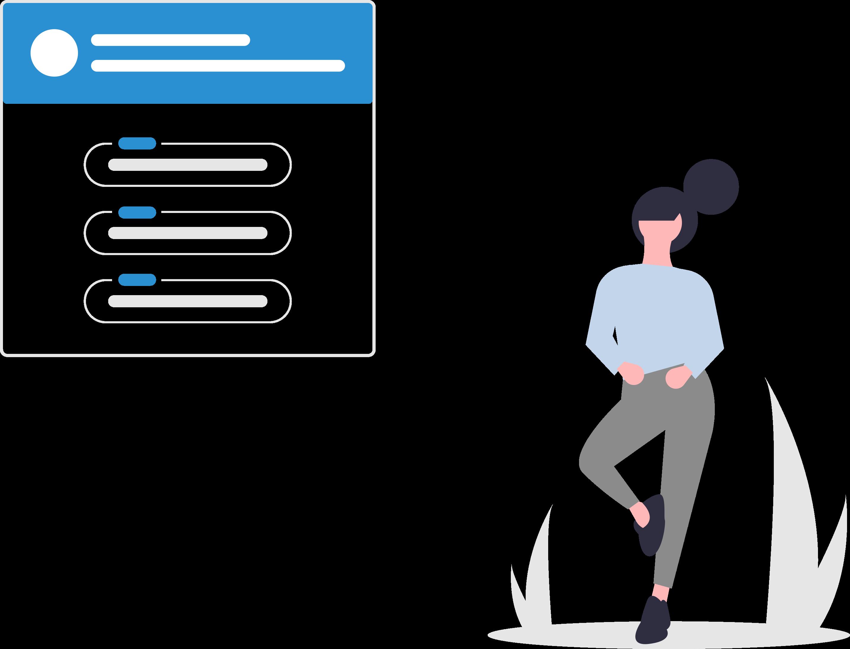 Chatbots für Kommunen, Frau, Daten