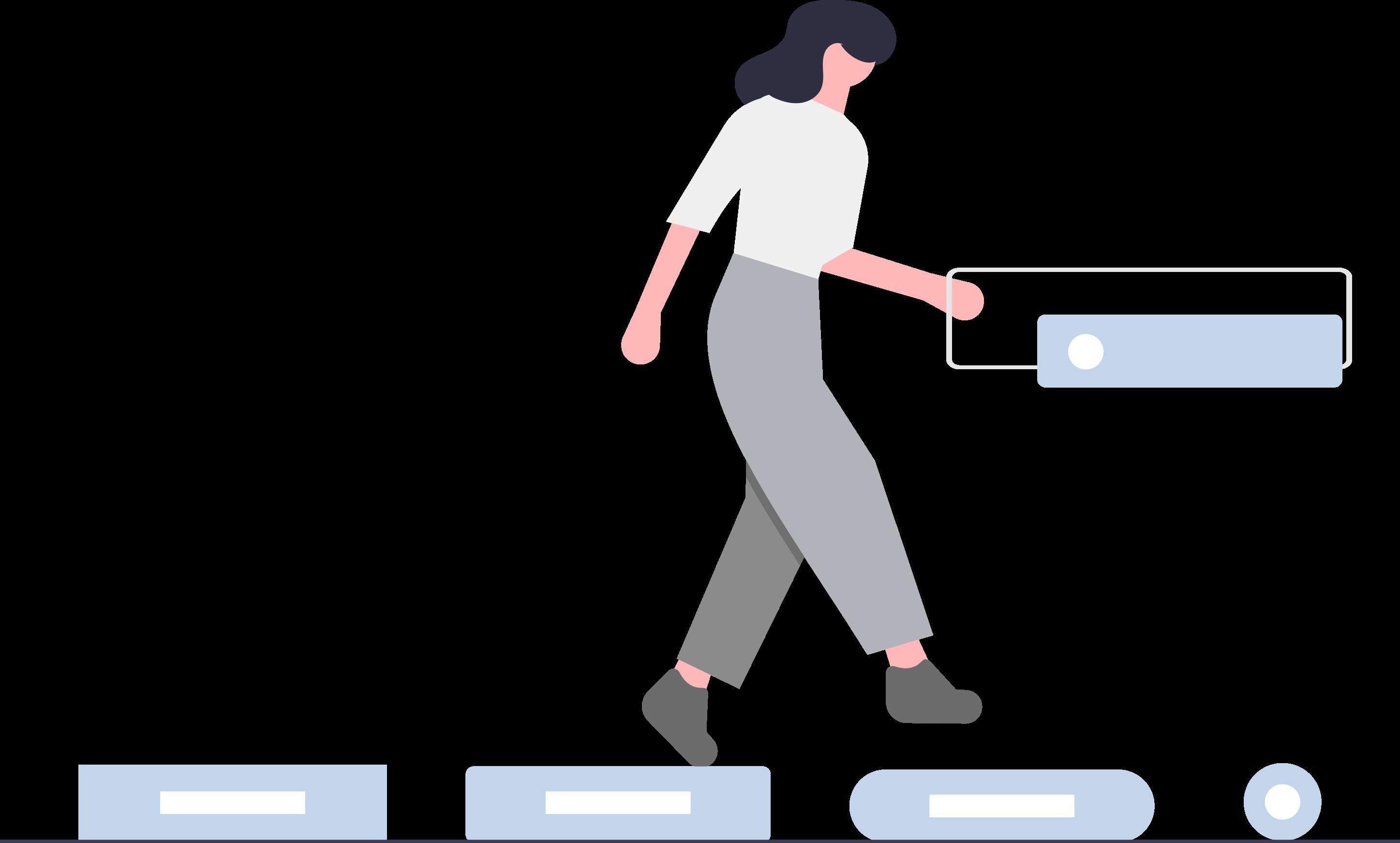 Frau, Datenbanken, Springen
