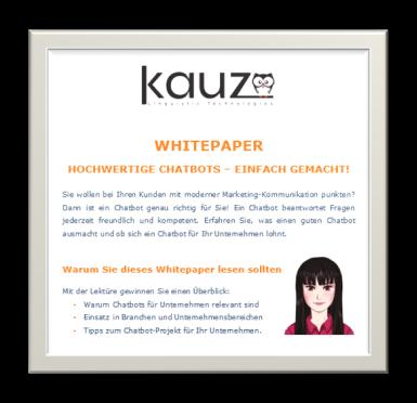 Kauz Whitepaper Chatbots für Unternehmen