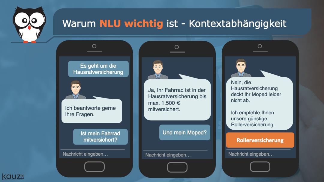 NLU Kontextsensibilität Hausrat Versicherung3 Smartphones