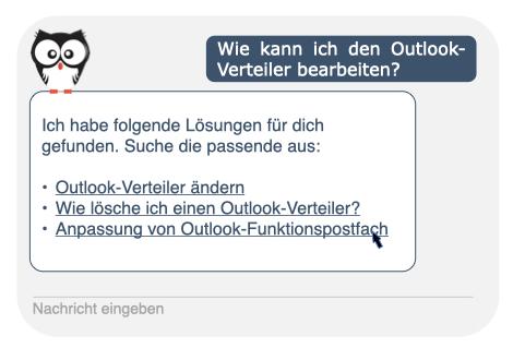 Chatfenster Kauz Eule Chatbot