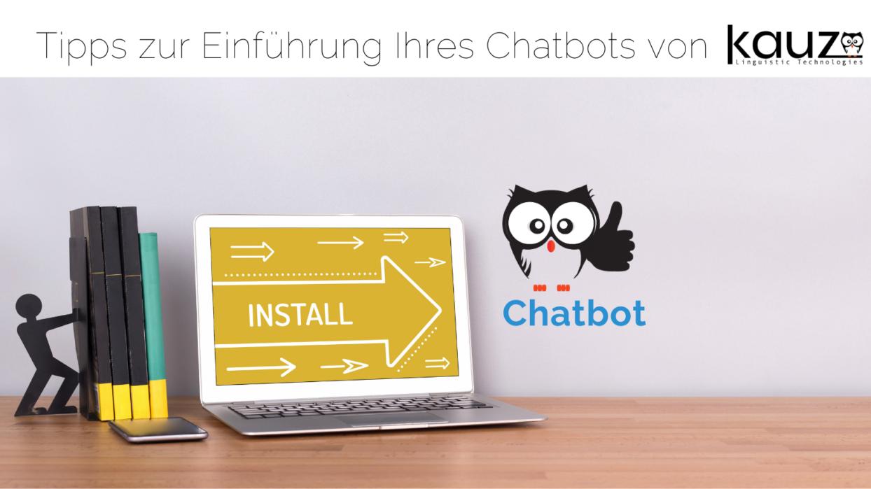 Bücher Laptop Chatbot Installation