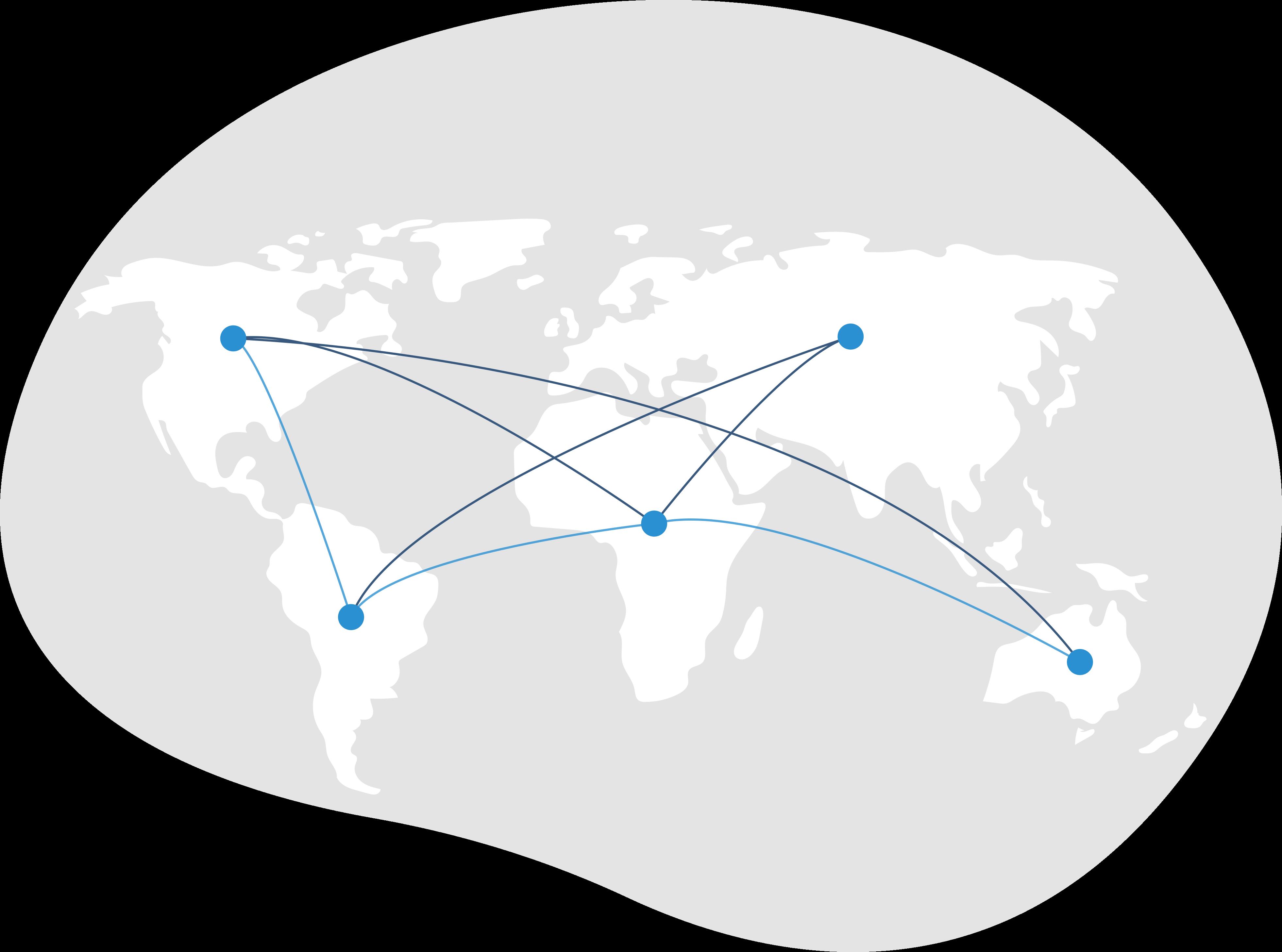Welt Karte vernetzt