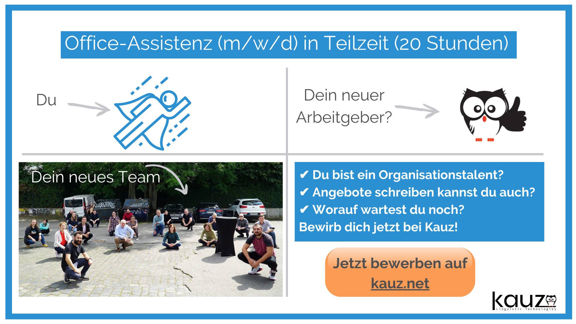 Chatbot Team Kauz Sucht Office Assistenz Job