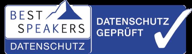 Logo Bestspeakers Datenschutz Siegel