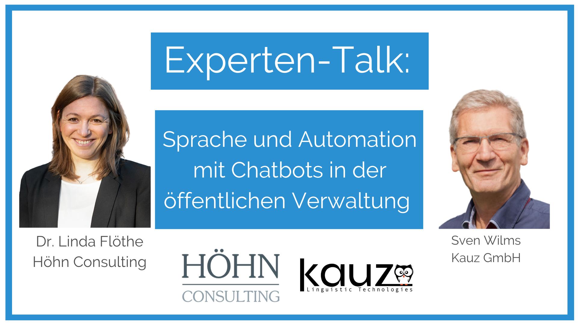Sprache Und Automation Mit Chatbots Oeffentliche Verwaltung Hoehn Consulting Und Kauz